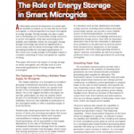 Energy Storage in Smart Microgrids