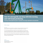 Oil Production with DC Microgrids